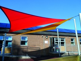 Benalla Double Overlapping Shade Structure / Shade Sail Canopy Installed - Shaded Nation